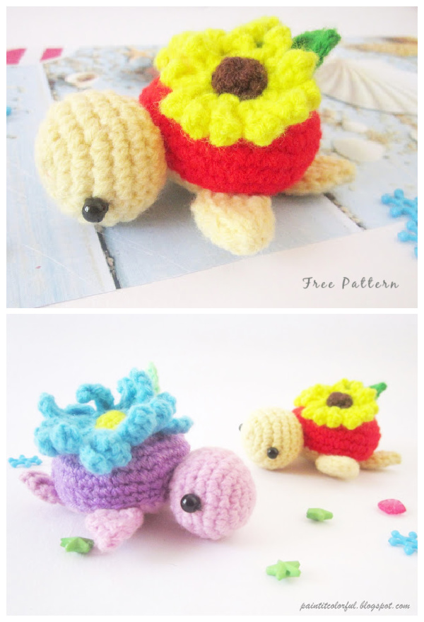 Crochet Spring Turtle Amigurumi Free Patterns