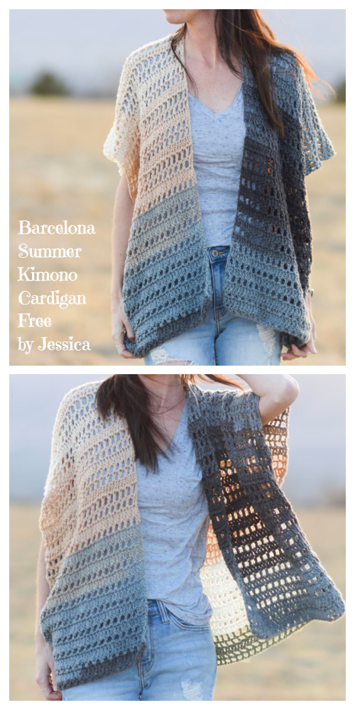 Barcelona Summer Lace Kimono Cardigan Free Crochet Patterns