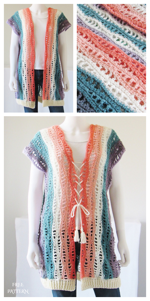 Summer Lace Kylie Kimono Cardigan Free Crochet Patterns