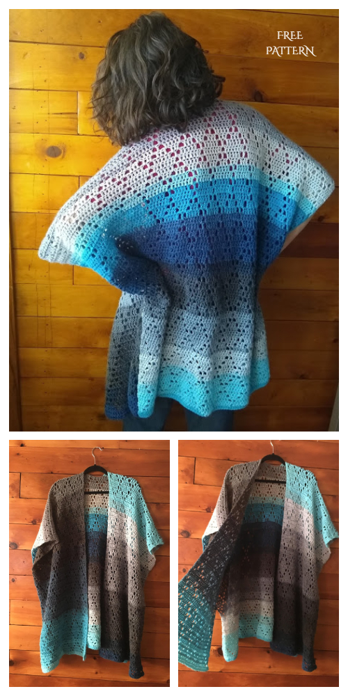 Lucy's Summer Lace Kimono Cardigan Free Crochet Patterns