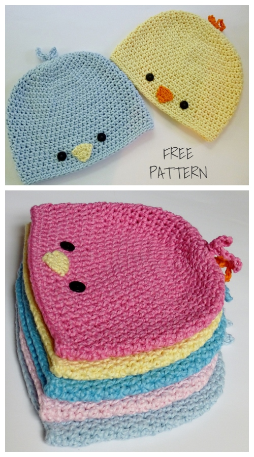 Baby Bird Beanie Hat Free Crochet Patterns