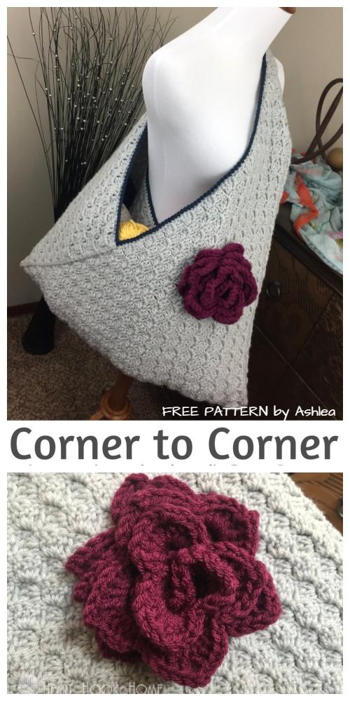 C2C Crochet WIP Bag Free Crochet Pattern