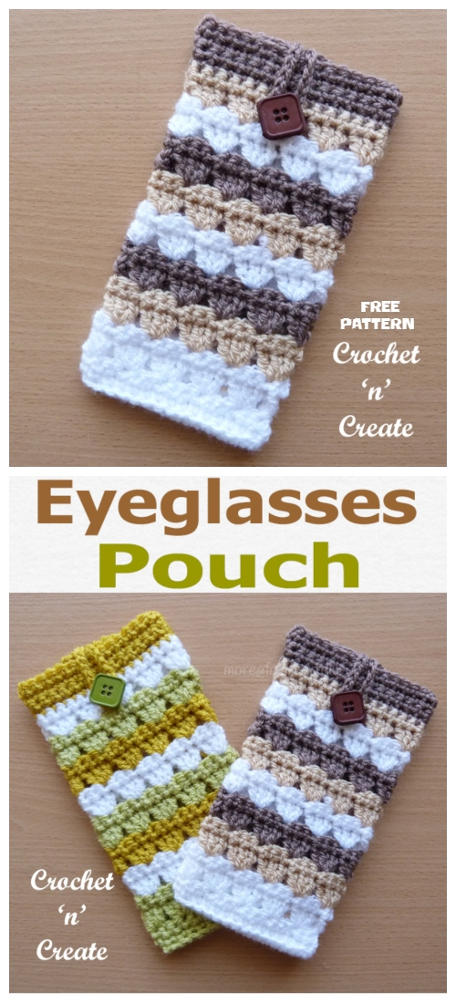 Crochet Eyeglass Pouch Free Crochet Patterns
