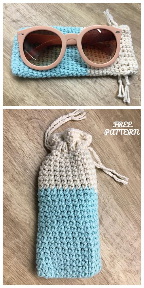 Crochet Easy Sunglasses Case Free Crochet Patterns