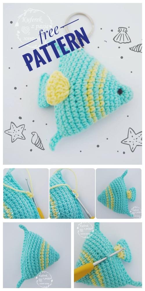 Crochet Fish Keychain Amigurumi Free Patterns