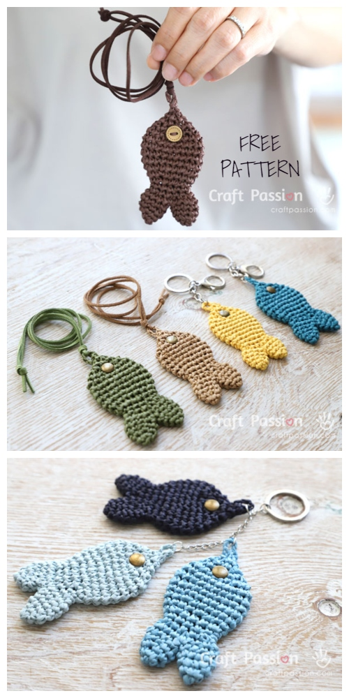 Crochet Fish /Pendant Keychain Amigurumi Free Patterns