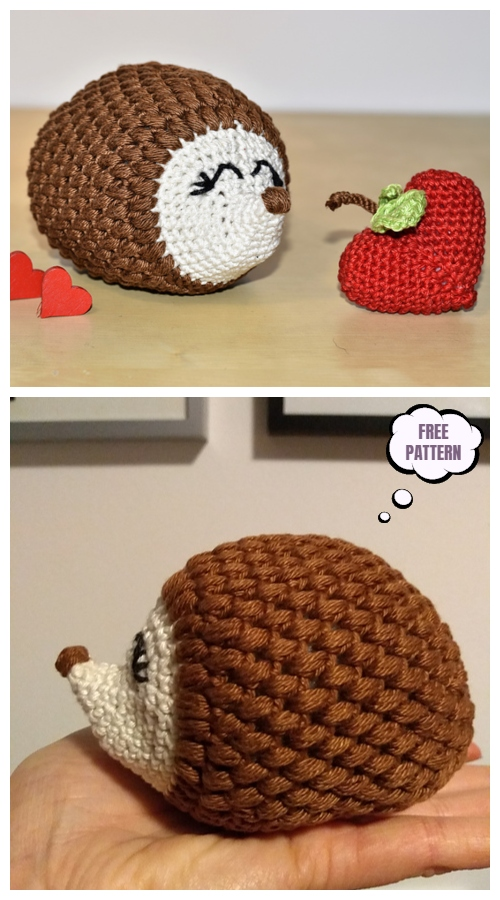 Crochet Romantic Hedgehog Amigurumi Free Patterns