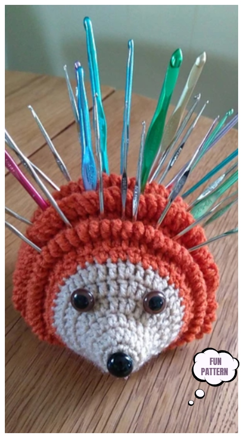 Crochet Holden the Hookhog Hedgehog Amigurumi Pattern