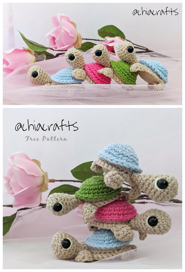 Crochet Little Turtle Amigurumi Free Patterns