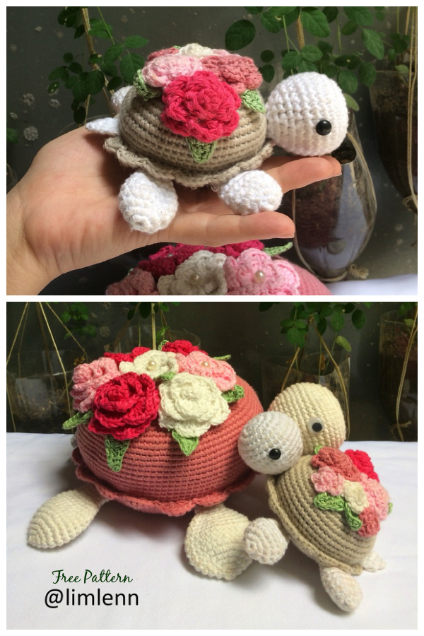 Crochet Turtle Flowers Amigurumi Free Patterns