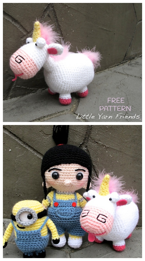 Crochet Fluffy Unicorn Amigurumi Free Patterns