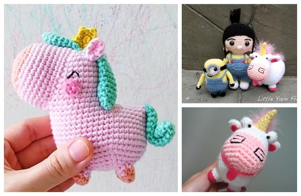 Unicorn Crochet Tutorial - IT'S SO FLUFFY! Amigurumi Step by Step ... | 400x616