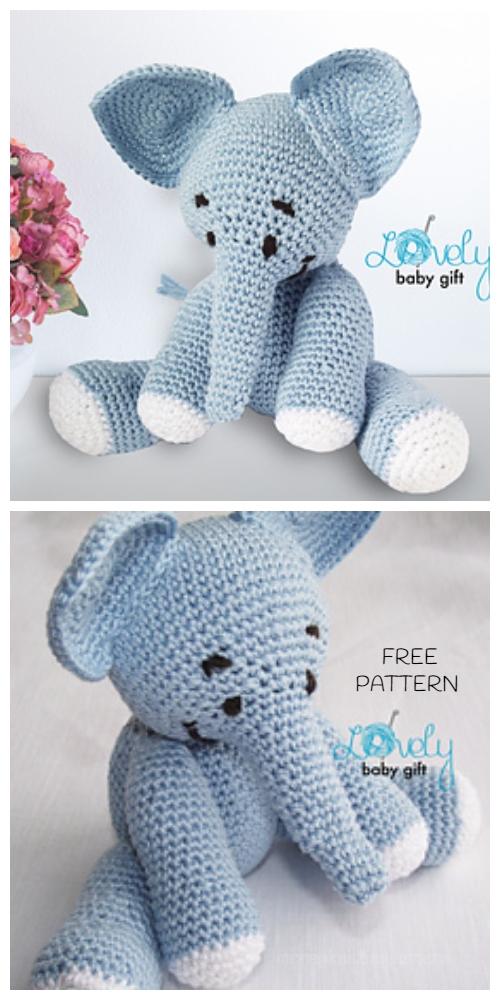Crochet Toy Elephant Amigurumi Free Patterns