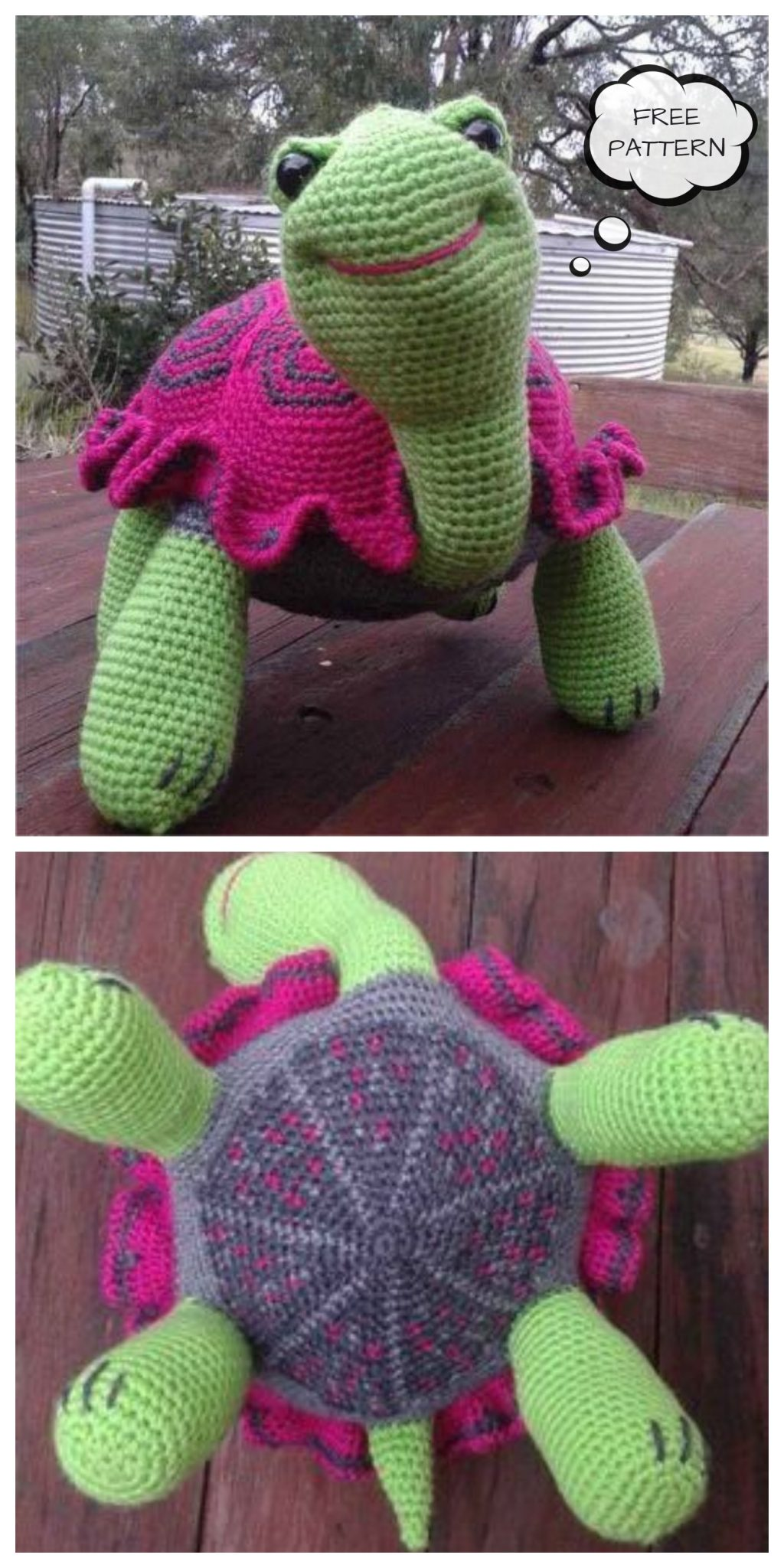 Crochet Toy Tortoise Amigurumi Free Patterns
