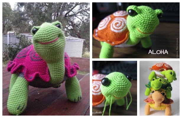 Watermelon turtles – amigurumi patterns - Amigurumi Today | 400x616