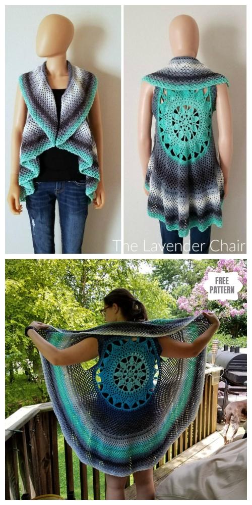 Crochet Dreamcatcher Mandala Circular Vest Free Crochet Pattern
