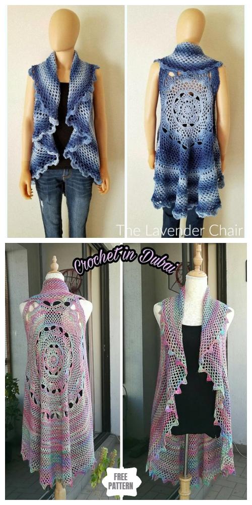 Crochet Midnight Star Mandala Circular Vest Free Crochet Pattern