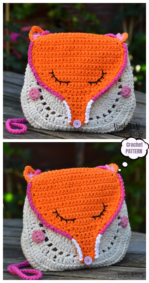Crochet Fox Purse Fun Crochet Pattern