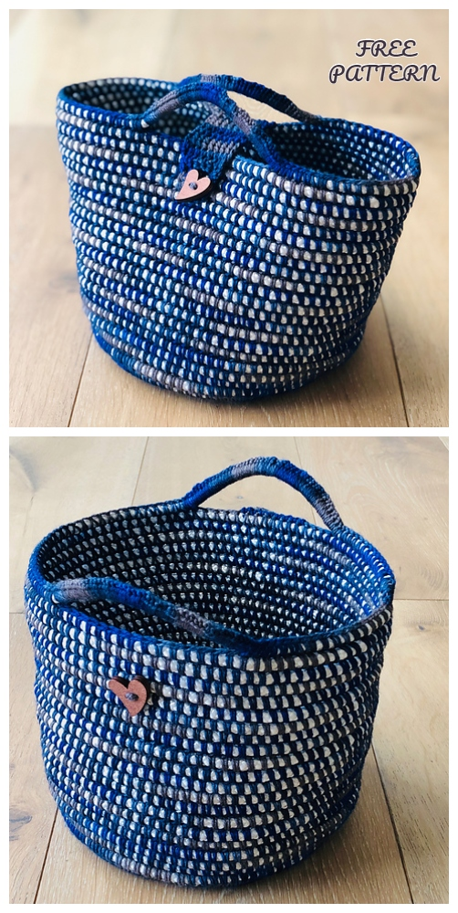 Happy Project Rope Basket Free Crochet Patterns