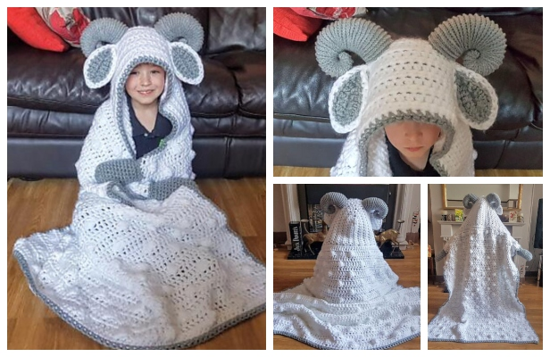 Hooded Ram Sheep Blanket Free Crochet Pattern Diy Magazine