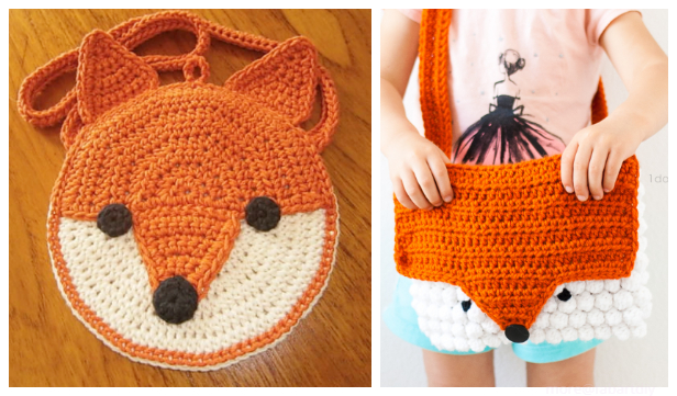 Fox Purse Bag Free Crochet Patterns & Paid