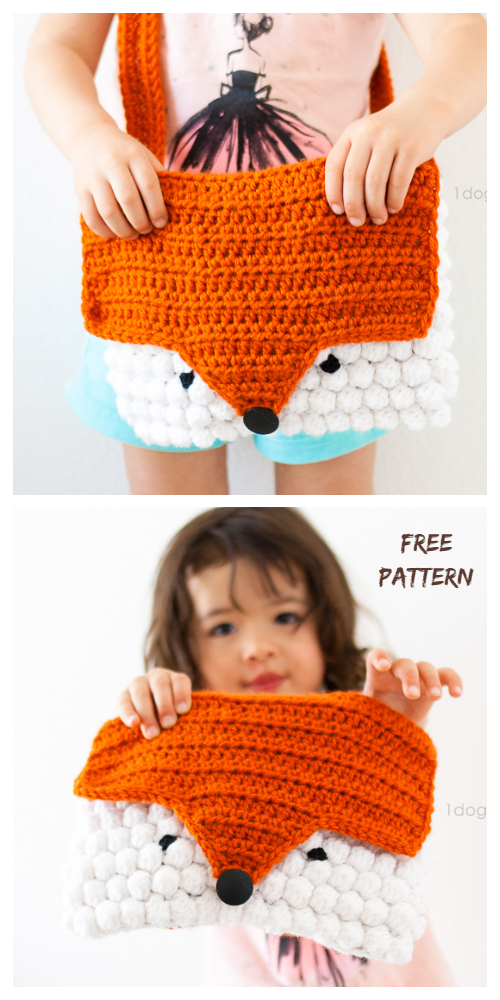 Crochet kids Orange You Fox Purse  Free Crochet Pattern