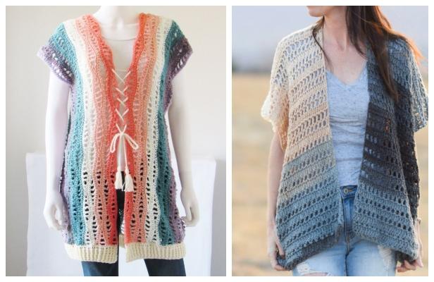 Summer Lace Kimono Cardigan Free Crochet Patterns