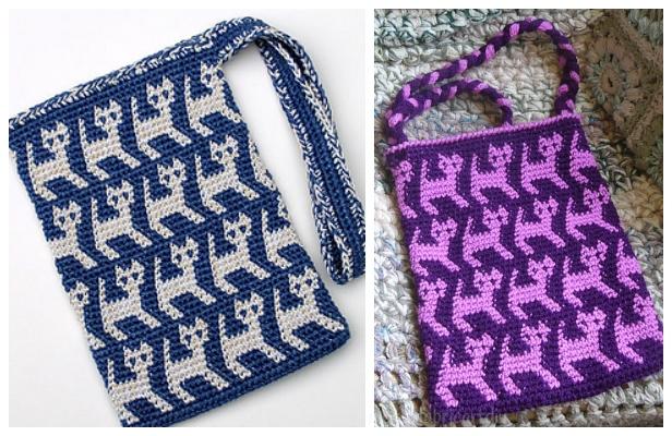 Crochet Cat Purse - Free Easy Pattern | 400x616