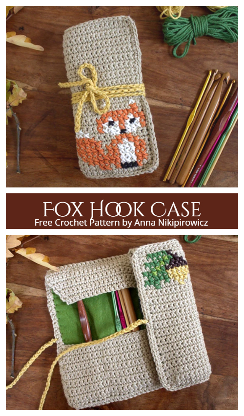Crochet Fox Hook Case Free Crochet Pattern