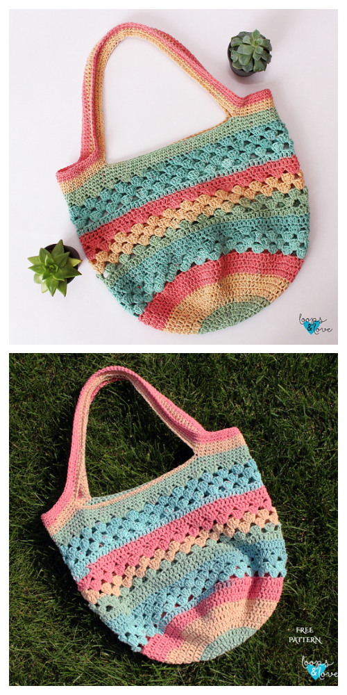 Easy Spring Market Tote Bag Free Crochet Patterns