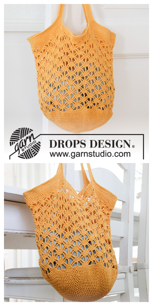 Pineapple Tote Market  Bag Free Crochet Patterns