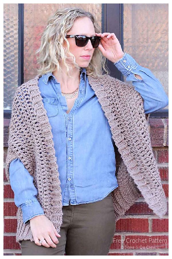 Summer Cocoon Cardigan Free Crochet Patterns