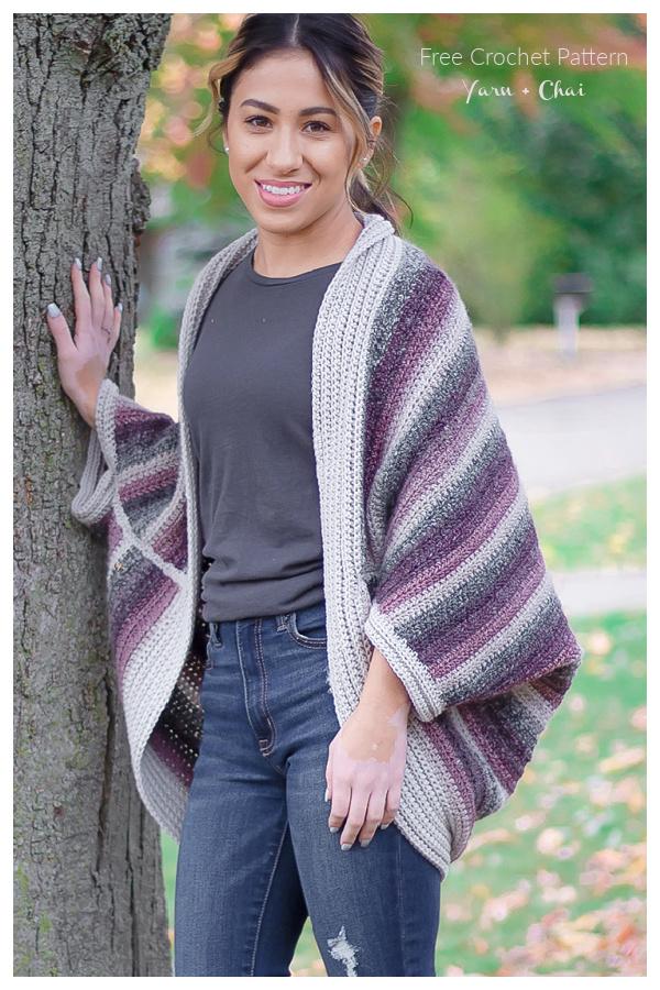Fireside Cocoon Cardigan Free Crochet Patterns