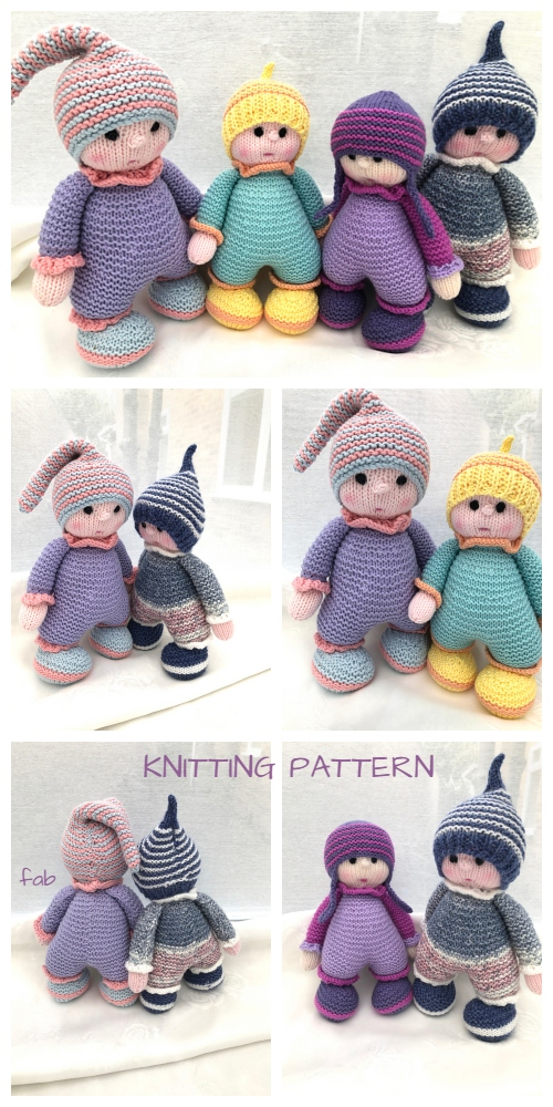 Knit Adorable Cuddly Doll Knitting Pattern
