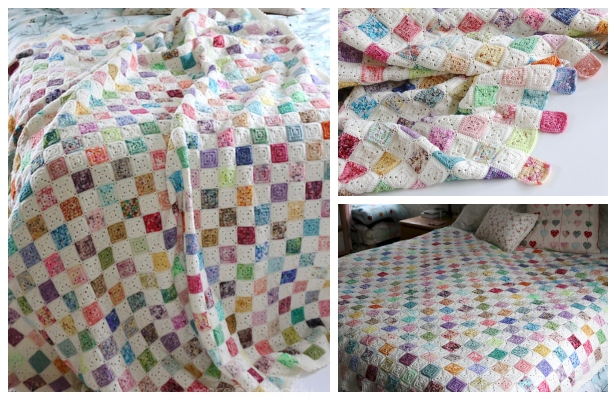 Battenberg Blanket Free Crochet Pattern Super Easy