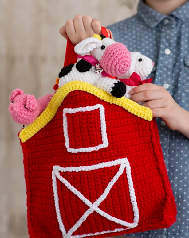 Carry Along Barn Animals Play Set Amigurumi Crochet Patterns