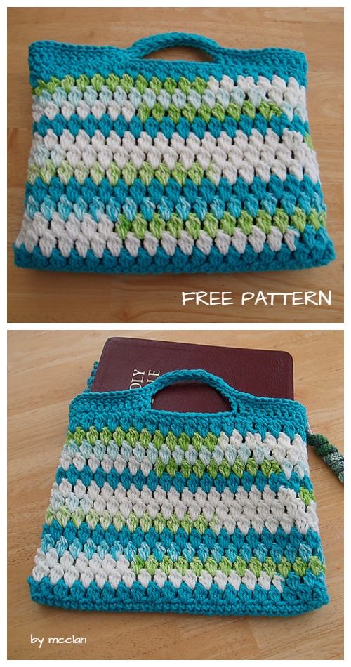 Crochet Cluster Stitch Shoulder Bag Free Crochet Pattern