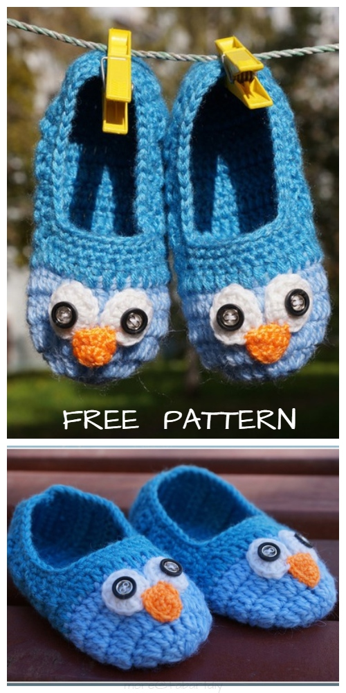 Crochet Adult Owl Slippers Free Crochet Patterns
