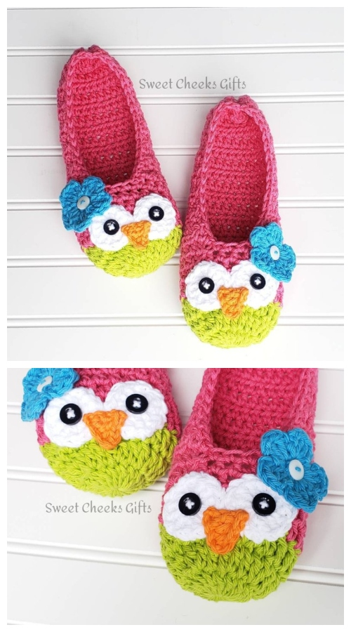 Crochet Adult Owl Slippers Purchase