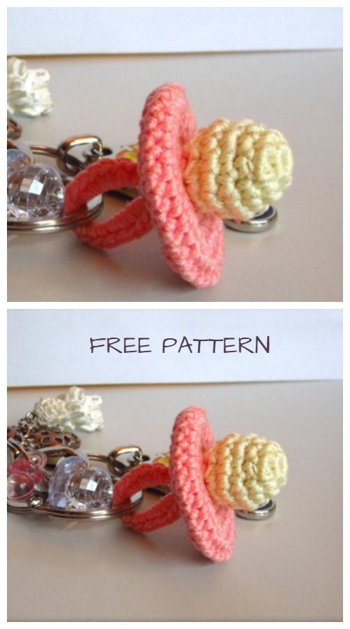 Crochet Baby Pacifier Amigurumi Free Patterns+Video