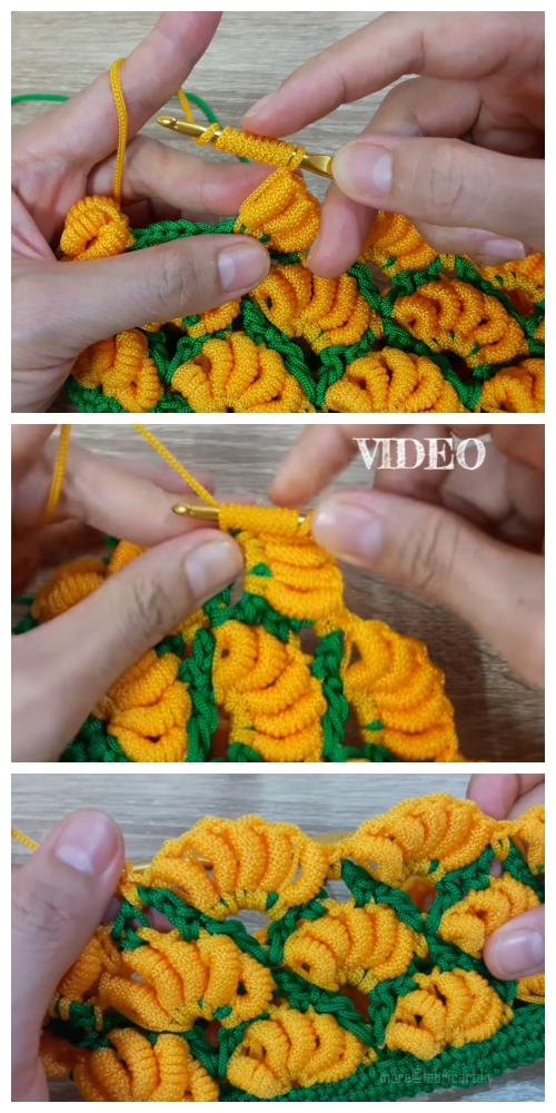 Crochet Banana Stitch Free Crochet Pattern Video