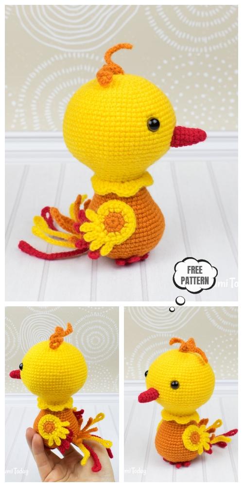 Crochet Bird Phoenix Amigurumi Free Patterns