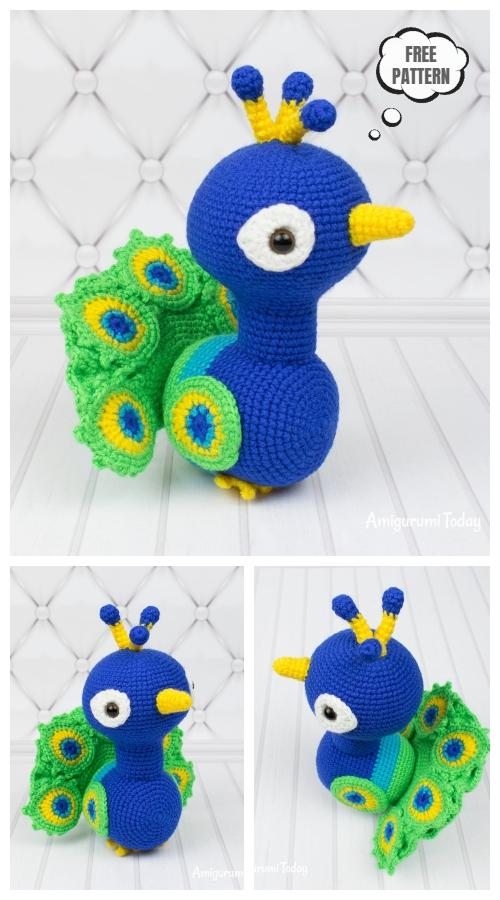 Crochet Bird Peacock Amigurumi Free Patterns