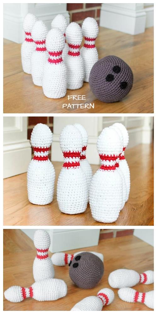 Crochet Bowling Set Amigurumi Free Patterns