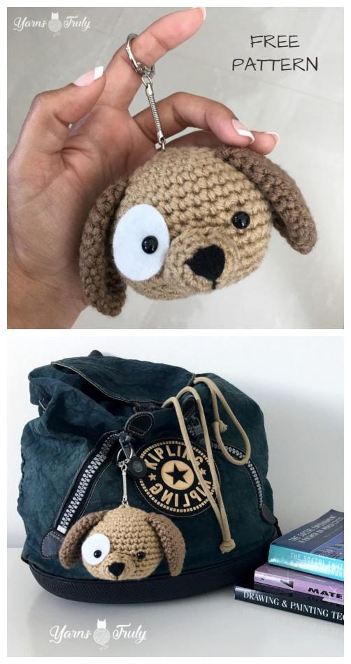 DIY Crochet Amigurumi Puppy Dog Stuffed Toy Free Patterns ... | 950x502