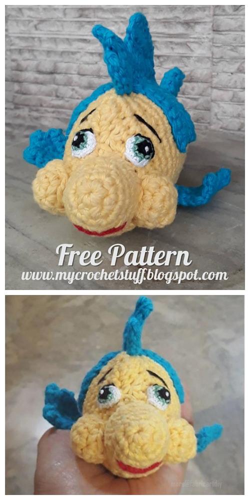 Crochet Flounder Fish Amigurumi Free Pattern