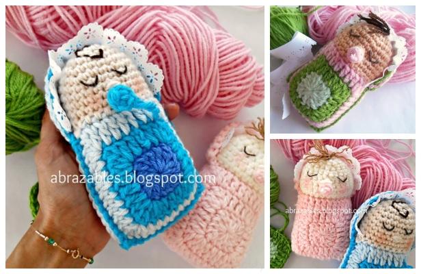 Amigurumi Baby Free Pattern | Brinquedos de tricô, Bonecas de ... | 400x616