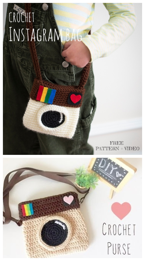 Crochet Instagram Camera Bag Free Crochet Patterns + Video