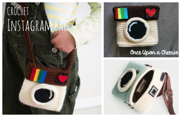 Crochet Instagram Camera Bag Free Patterns Video