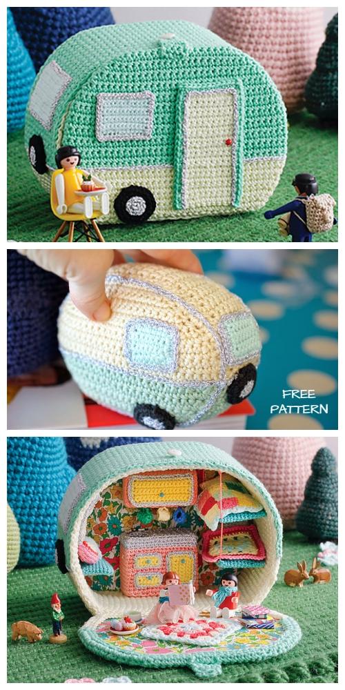 Crochet Mini Vintage Caravan Free Crochet Pattern